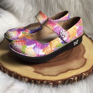 Alegria leather Mary Janes 38
